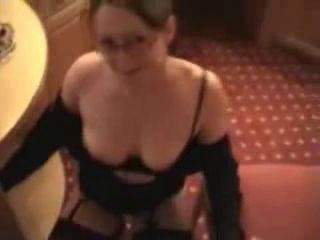 Horny Sexy Wife Puts On Show Then Takes A Facial !