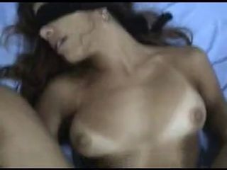 sexy beurette arab blindfolded and