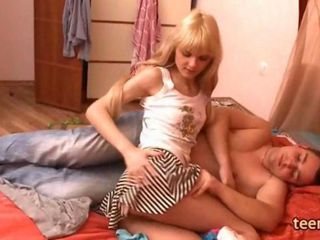 18 years old russian girl Loly fucking and sucking friends cock
