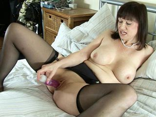 British Chubby Dildo European Masturbating  Stockings Toy