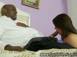Real amateur stepdaughter slut sucks hard stepfather cock