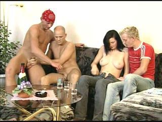 BISSEX TEEN 7 one girl and three guys in sex party