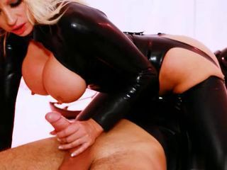 Big Tits Clothed Handjob Latex  Pornstar