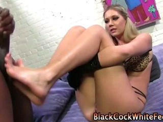 Naughty fetish slut paddles cock