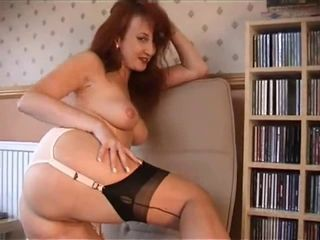Amateur Ass  Redhead Solo Stockings
