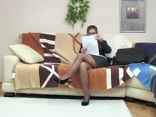 Glasses Legs  Stockings Teacher