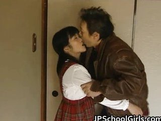 Asian Daddy Daughter Japanese Old and Young Student Teen Uniform
