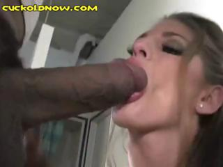 Brunette Gets A Big Black Cock While Her Husband Watches Her Fuck
