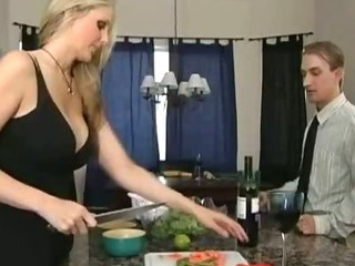 Big Tits Kitchen  Wife