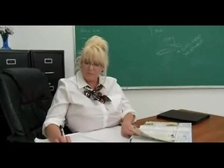 Blonde Glasses Mature School Teacher