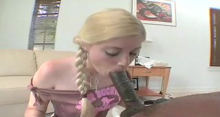 Blowjob Interracial Pigtail Teen