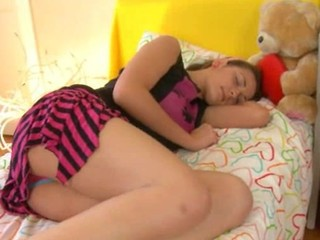 Russian Sleeping Teen Upskirt