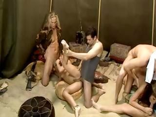 egyptian and american tent meeting turns into a attractive sex orgy