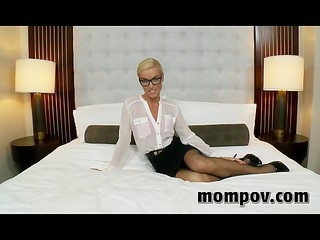 Sexy Secretary Milf Taking My Dick Pov