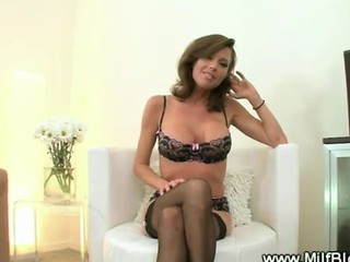 Sexy Milf In Stockings With A Mouth Full Of Cock