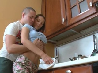 Great European Teen Fuck In The Kitchen