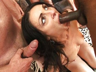 Blowjob Interracial  Swallow Threesome
