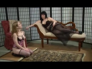 Lesbian Femdom Domination In Stockings