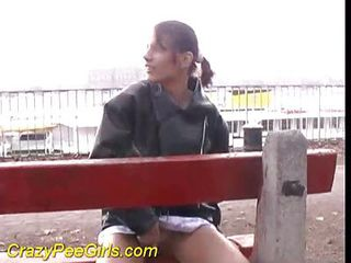 Cutie In A Unplanned Skirt Pisses In Public