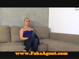 Fakeagent Blonde Amateur Unhappy With Creampie