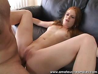 20 Year Old Ginger And Her First Creampie