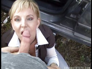 Amateur Blowjob Clothed European  Outdoor Pov