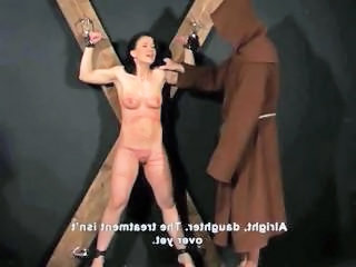 Brunette Is Strung Up And Punished And Tortured By Getting Whipped