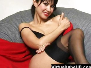 Asian Pulchritude Spreading Pussy And Masturbating