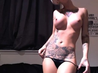 Hot Tattoo Blond Stripshow Hd