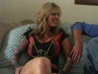 Busty Blonde Milf Janine And Two Men