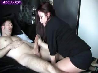 Hungry Male Cums Intensively On The Dirty Mouth Of Middle-aged Hooker