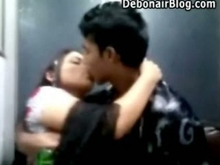 Young Bangladeshi Couple Kissing Public