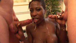 Ebony Star Melvina Raquel In Cock Sandwich