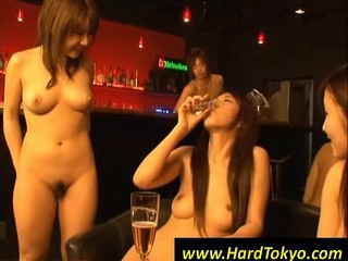 Naked Asian Girls Gets Tied Up In A Bar