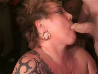 Big Tits British SlutRona Sucks More Cocks & Takes More Cum