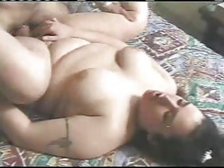arabic man fucks fat girl in the pussy and ass
