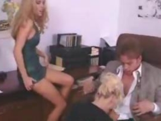 Blowjob Clothed  Office Secretary Threesome