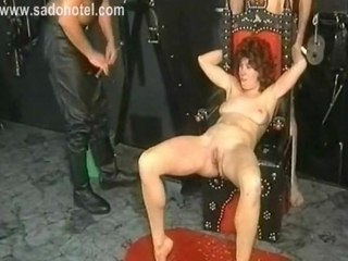 Crying Slave With Her Body Covered In Candle Wax Is...