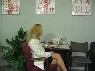 Blonde Milf Stroking Cock In A Doctors Office For An...