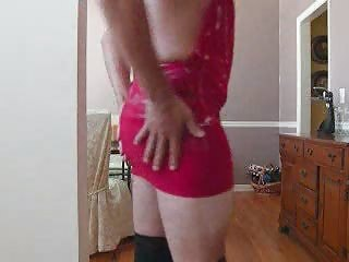 Jerkin Off - Wearing Stripper Dress