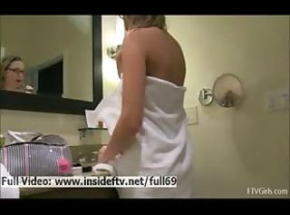 Amateur Bathroom Cute Showers Teen