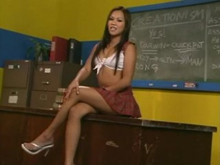 Asian Cute School Student Teen