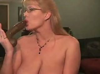 Hot milf deepthroating her dildo