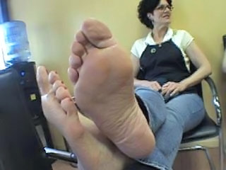 mature clerk feet...