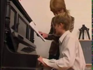 Piano Teacher Dominates Her S...