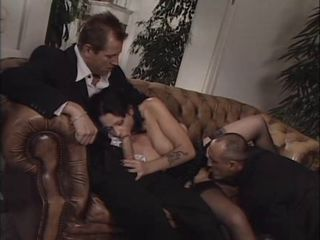 Blowjob European Italian Licking  Stockings Threesome