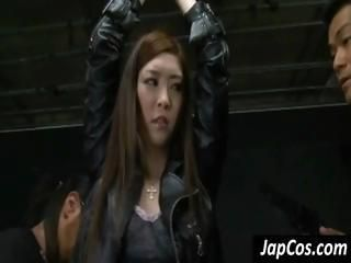 Japanese slave chick gets her...