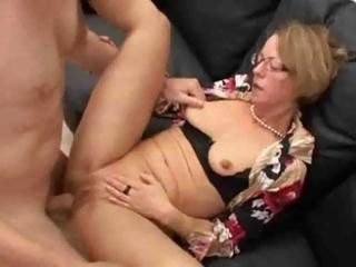 Amateur Glasses Mature Small Tits