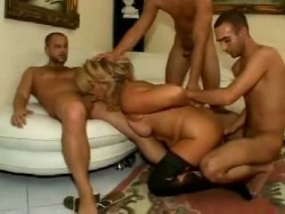 Hot Mature Karola GangBang...