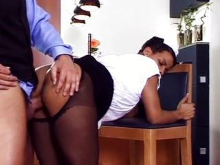 The black maid fucked hard...